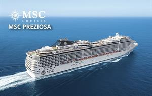 Francie, Španělsko, Barbados, Antigua a Barbuda, Svatý Martin, Svatý Kryštof a Nevis, Martinik, Guadeloupe z Marseille na lodi MSC Preziosa