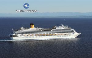 Brazílie, Španělsko, Francie ze Santosu na lodi Costa Favolosa