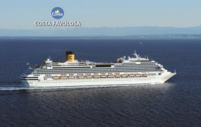 Brazílie, Argentina, Uruguay ze Santosu na lodi Costa Favolosa
