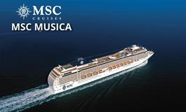 Itálie, Francie, Španělsko z Marseille na lodi MSC Musica