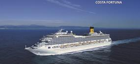 Francie, Španělsko, Itálie na lodi Costa Fortuna
