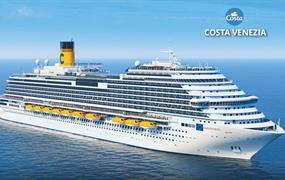 Itálie, Chorvatsko, Řecko, Izrael, Egypt, Jordánsko, Omán, Spojené arabské emiráty na lodi Costa Venezia