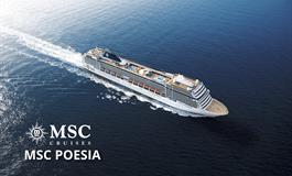 Brazílie ze Santosu na lodi MSC Poesia