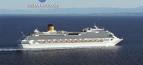 Španělsko, Portugalsko, Francie, Velká Británie, Nizozemsko, Dánsko, Německo z Barcelony na lodi Costa Favolosa