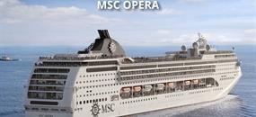 Itálie, Černá Hora, Řecko z Bari na lodi MSC Opera
