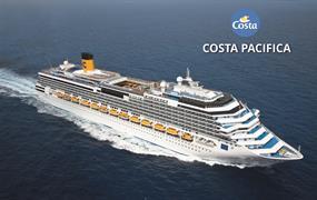 Itálie, Španělsko, Brazílie z Janova na lodi Costa Pacifica