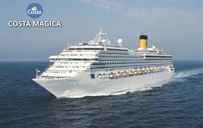 Španělsko, Portugalsko, Francie, Velká Británie, Nizozemsko, Švédsko z Barcelony na lodi Costa Magica