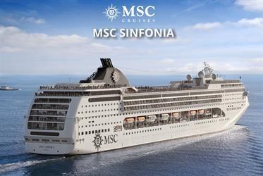 Brazílie, Uruguay ze Santosu na lodi MSC Sinfonia