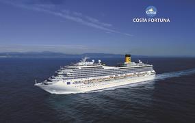 Francie, Španělsko, Itálie, Řecko, Omán, Indie, Srí Lanka, Thajsko, Malajsie, Singapur z Marseille na lodi Costa Fortuna