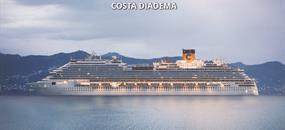 Katar, Spojené arabské emiráty, Omán z Dohy na lodi Costa Diadema