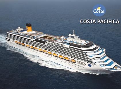 Uruguay, Argentina, Brazílie z Montevidea na lodi Costa Pacifica