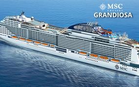 Malta, Španělsko, Francie, Itálie z Valletty na lodi MSC Grandiosa