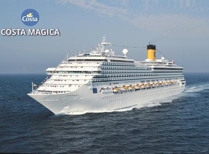 Francie, Španělsko, Martinik, Guadeloupe, Dominikánská republika, Britské Panenské ostrovy, Svatý Martin z Marseille na lodi Costa Magica