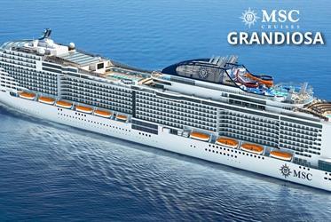 Španělsko, Francie z Palma de Mallorca na lodi MSC Grandiosa