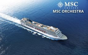 Jihoafrická republika, Reunion, Mauricius, Jordánsko, Egypt, Řecko, Černá Hora, Chorvatsko, Itálie z Durbanu na lodi MSC Orchestra