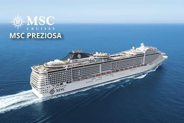 Francie, Belgie, Nizozemsko, Německo z Le Havru na lodi MSC Preziosa