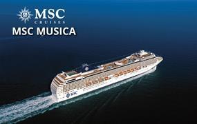 Itálie, Francie, Španělsko, Portugalsko, Velká Británie, Švédsko, Dánsko, Německo z Janova na lodi MSC Musica