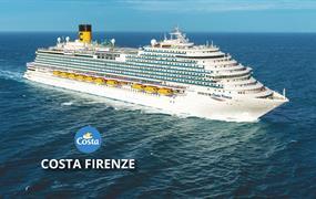 Španělsko, Francie, Itálie, Řecko, Izrael, Jordánsko, Omán, Spojené arabské emiráty z Barcelony na lodi Costa Firenze