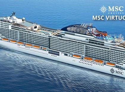 Itálie, Malta, Řecko, Kypr, Egypt, Saúdská Arábie, Omán, Spojené arabské emiráty z Civitavecchia na lodi MSC Virtuosa