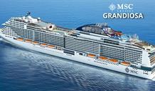 Španělsko, Itálie z Málagy na lodi MSC Grandiosa