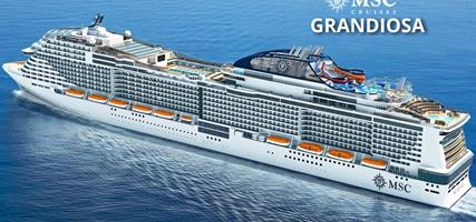 Španělsko, Itálie, Malta z Barcelony na lodi MSC Grandiosa