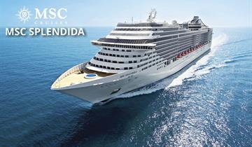 Itálie, Francie z Brindisi na lodi MSC Splendida