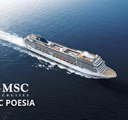 Francie, Švédsko, Dánsko, Německo z Le Havru na lodi MSC Poesia