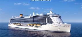 Francie, Španělsko, Itálie z Marseille na lodi Costa Toscana