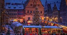 Bavorské město Vánoc Rothenburg ob der Tauber