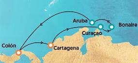 Antily a jižní Karibik (z Kolumbie) na lodi Monarch AI