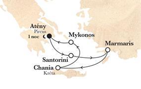 Řecké ostrovy na lodi Horizon AI