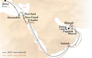 Z Dubaje do Řecka na lodi Horizon AI