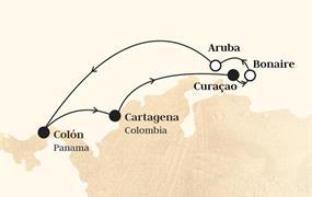 Monarch - Panama, Kolumbie, Nizozemské Antily, Aruba (z Colonu)