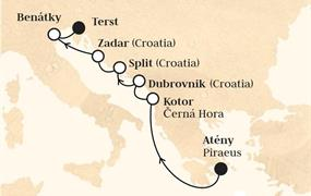 Horizon - Řecko, Černá Hora, Chorvatsko, Itálie (z Pirea)