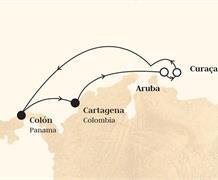 Monarch - Panama, Kolumbie, Aruba, Nizozemské Antily (z Colonu)