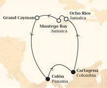 Monarch - Panama, Kolumbie, Jamajka, Kajmanské ostrovy (z Colonu)
