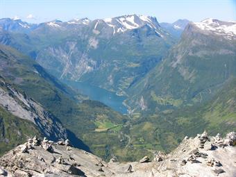 Norské fjordy - letecky