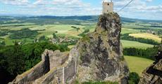 Zámek Hrubý Rohozec, vrchol Kozákov, hrad Rotštejn, Klokočské skály