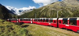 Bernina Express a Svatý Mořic **