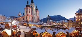 Vánoční Mariazell s průvodem čertů