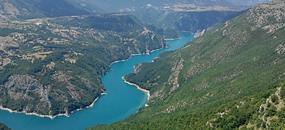 Černá Hora - NP Durmitor, Sinjajevina na kole se zastávkou u moře - hotel