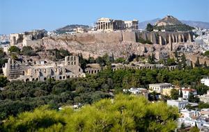 Řecko - starověké památky - letecky