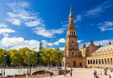 Španělsko - Andalusie, památky UNESCO letecky