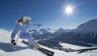 Lyžování v St. Moritz (vlastní dopravou)