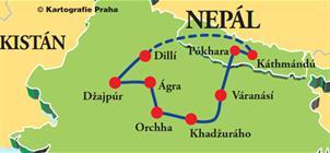 Okruh Indií a Nepálem **
