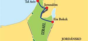 Mrtvé moře a metropole Izraele **