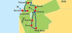 Izrael - Jordánsko **