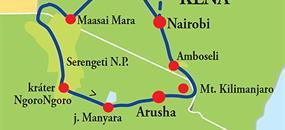 Keňa - Tanzanie - to nejlepší z východní Afriky
