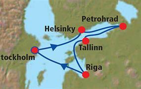 Petrohrad a metropole Pobaltí – plavba, s delegátem