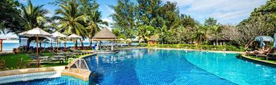 Cha-da Beach Resort & Spa, Ko Lanta - pláž Klong Dao, BW Bangtao Beach Resort, Phuket - pláž Bangtao, Bangkok Palace Hotel, Bangkok **